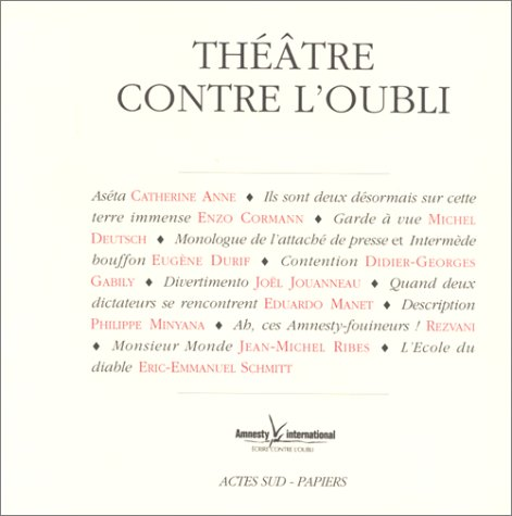 Théâtre contre l'oubli par Amnesty International