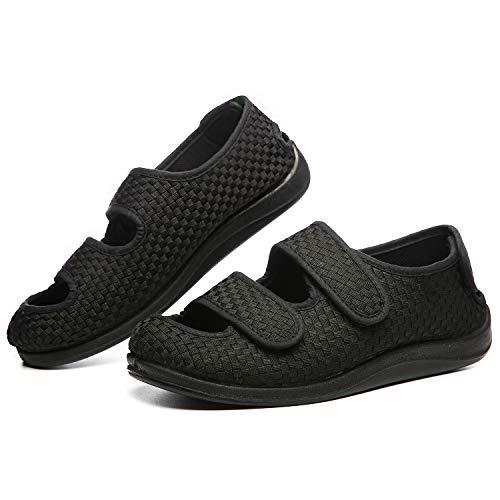 Gifort Diabetiker Hausschuhe, Geschwollene Hausschuhe Für Männer Verstellbare Schuhe Arthritis Ödem