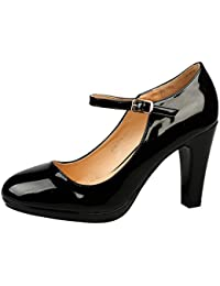 ByPublicDemand Emmeline Womens High Heel Classic Mary Jane Shoes