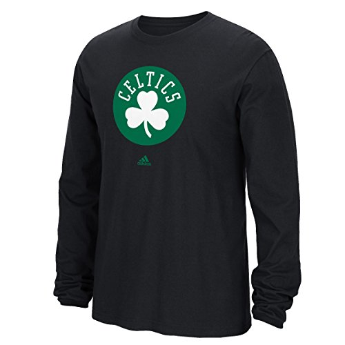 Boston Celtics Adidas NBA Full Primary Logo Long Sleeve T-Shirt Camicia - Black