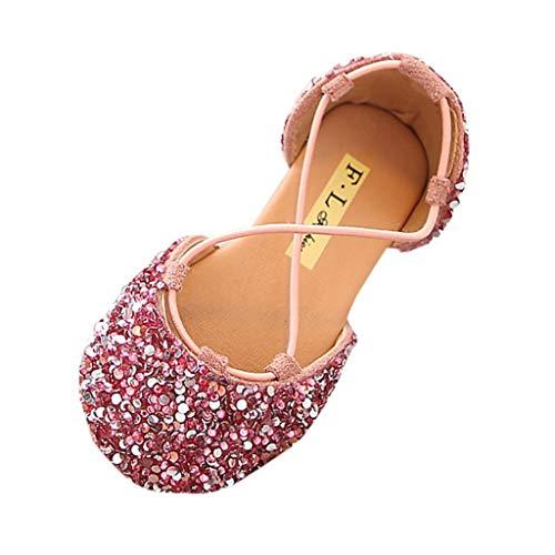 Einzelne Schuhe Kinder Pailletten Gummiband Einzelne Schuhe Kleinkind Niedlich Schuhe Prinzessin Schuhe Tanzschuhe Kinder Baby Kleinkind Mädchen Pailletten Bling Schuhe (27 EU, Rosa 4)