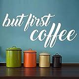 Ma per la prima volta adesivi murali caffè adesivi murali in vinile home cafe cucina parole decorazione della stanza home interior design