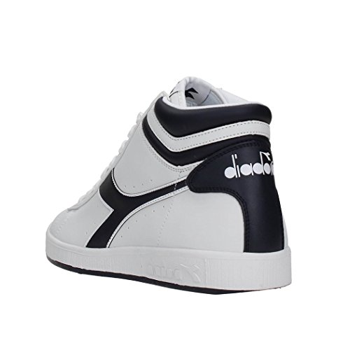Diadora Game P High, Sneaker Col Roulé Mixte Adulte White/Chili Pepper