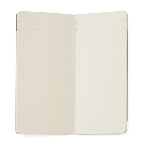 paper-refill-3-pack-cream-dotted-paper-for-travellers-leather-journals-or-refillable-diaries-set-of-