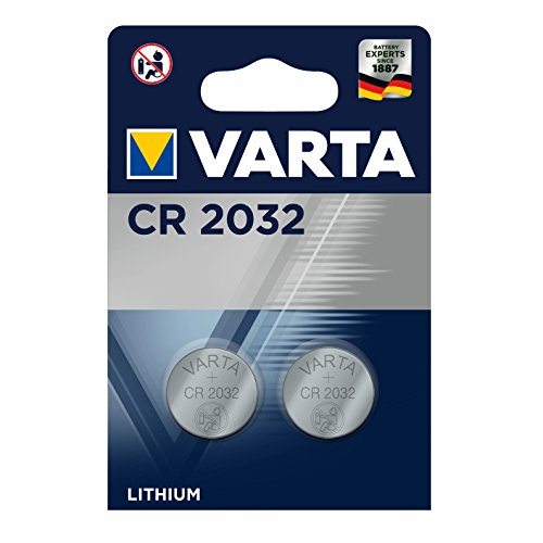 Varta CR2032 - Pack de 2 pilas (Litio, 3V, 230 mAh)