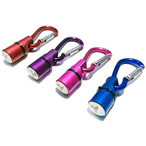 com-four Juego de 4 Colgantes LED parpadeantes para la lámpara de luz de Seguridad de su Mascota para Perros y Gatos