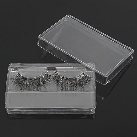 Bluelover 1Pc Faux Cils Boîte D'Emballage Clear Transparent Réutilisable Portable Eye Maquillage Outils