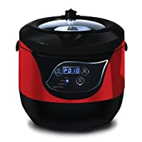 Maxi-Matic Elite Platinum Smart and Healthy Low Pressure Cooker Red