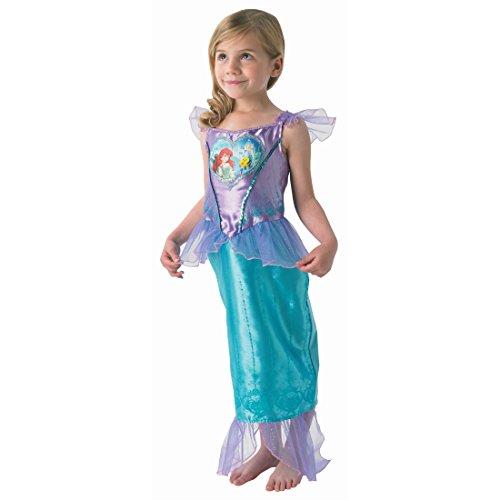 Costume de sirène robe Arielle pour enfant S 4-5 ans 98-116 cm Tenue de sirène pour petit princesse déguisement de femme poisson Disney costume petite fille déguisement de fillette carnaval