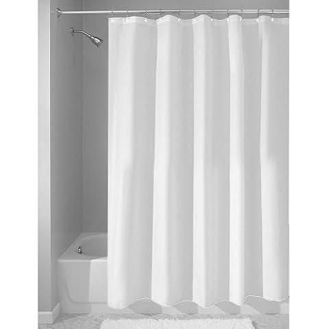InterDesign Duschvorhang aus Stoff | wasserdichter Duschvorhang mit verstärktem Saum | waschbarer Textil Duschvorhang in der Größe 180,0 cm x 200,0 cm | Polyester
