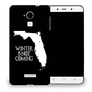 Snoogg Winter Is Not Coming Designer Protective Back Case Cover For COOLPAD NOTE 3