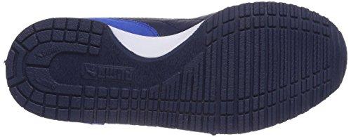Puma Cabana Racer Sl Jr, Baskets Basses mixte enfant Bleu - Blau (strong blue-white-peacoat 30)