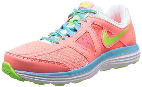 Nike W Dual Fusion Lite 2 MSL Scarpe Sportive, Donna Lava Glow/Flsh Lm-White-Clrwtr