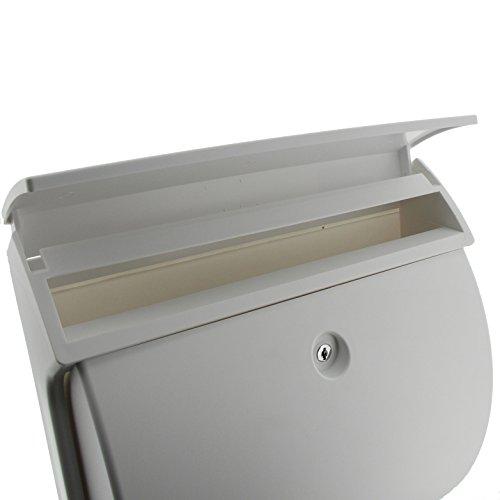BURG-WÄCHTER, Kompakter Briefkasten mit Öffnungsstopp, A4 Einwurf-Format, Vollkunststoff, Classico 4931 W, Weiß - 3