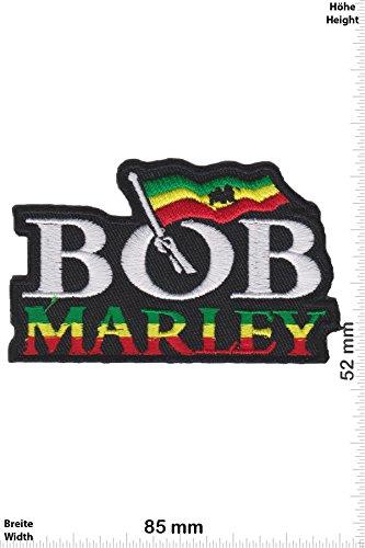 Patch - Bob Marley - Flag - Musicpatch - Rock - Vest - Patches - Aufnäher Embleme Bügelbild Aufbügler