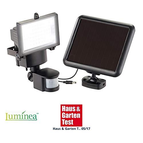 Luminea Wandfluter aussen: Solar-LED-Wand-Fluter für außen, mit Bewegungssensor, 600 Lumen, IP44 (LED Strahler Solar)
