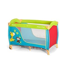 Hauck / Sleep N Play Go / Lettino da viaggio 3 pezzi / 120 x 60cm / dalla nascita fino a 15 kg / con ruote, materasso, borsa di trasporto / pieghevole, leggero e antiribaltamento / Jungle Fun (Multicolore)