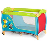 Hauck Sleep-n-Play Go Travel Cot with folding mattress, 120 x 60cm, Jungle Fun