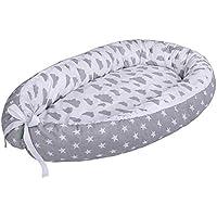 LULANDO Baby-Nest cocon pour bébé/nourrisson, cocon à usage multiple, coussin pour bébé, couffin de voyage portable, 100% coton, anti-allergique, certificat Oeko-Tex, dimensions: 80cm x 45cm x 15cm