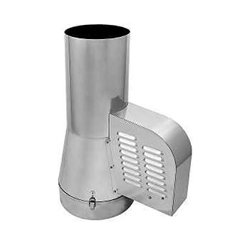 Courants d'air en acier inoxydable Générateur Rotowent Entrée Tuyau 200mm