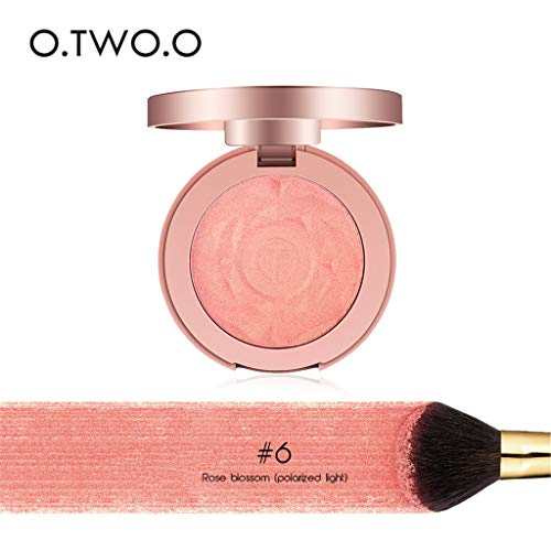 Cwemimifa Dewy Gel Blush Stick Nuance Rouge,Blusher Smooth Makeup Contour Face Foundation Powder Cream Blusher Rouge Palette -