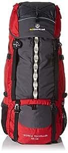 outdoorer Work and Travel Rucksack Work & Traveller 75+10, 85l Volumen, Frontzugriff auf Hauptfach, Seitentaschen
