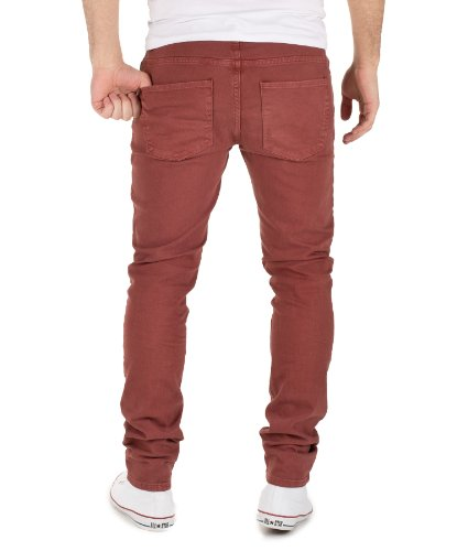 Selected Homme Herren Slim Fit Jeans ONE RAMOS - Jeans Slim Fit - m Mahogany