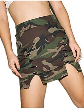 Women 's Basic Fit Slim Mini Falda De Cintura Alta Patinador