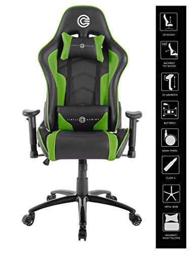 CIRCLE Gaming CH70 Green Black All Moulded Foam 2D ARM...