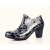 Y&JAXIE Rough High mit Damen niedrigen Regen Stiefel / Reißverschluss Regen Stiefel / wasserdichte Schuhe / Gummi Schuhe , 40 , grey