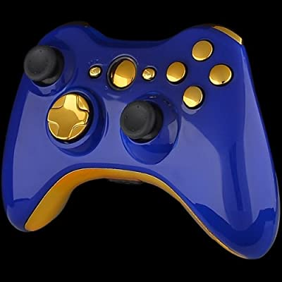 Official Xbox 360 Wireless Controller - Royal Blue with Gold Buttons