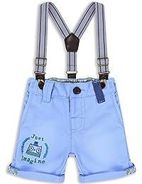 The Essential One - Bebé Infantil Niños - Pantalón Corto con Tirantes - Azul - EOT263