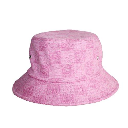 Europe Et Amérique Mme Printemps Et En été Chapeau De Couleur Unie Mignon Chapeau De Soleil En Plein Air Pots Casquettes pink