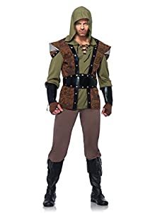 Leg Avenue 85268 - Robin Hood Costume Set, 5 Piezas, Talla XL, Color marrón