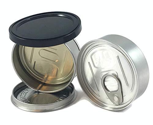 LTLDISTRIBUTIONS 120 X (100ML) 3 5 gram Pressitin Tuna Tin/Storage Cans -  Fitted LIDS/Self Sealing - Smell/Tamper Proof