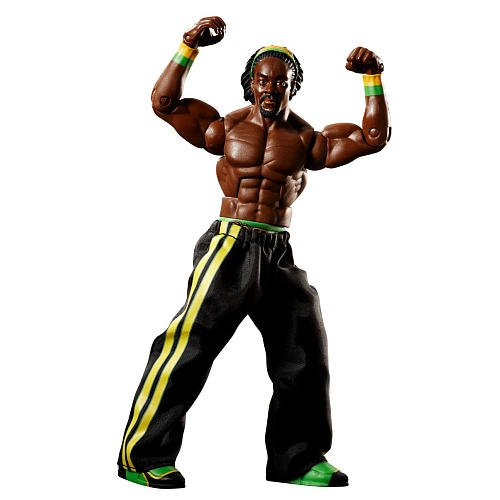 Mattel WWE Elite Collection Kofi Kingston Figur Serie # 4