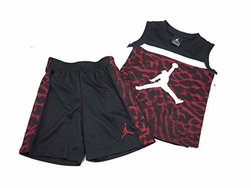 Jungen AIR JORDAN 2Stück Shorts und Sleeveless Shirt Set, Jungen, schwarz / rot / weiß