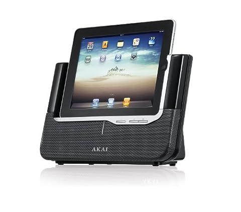Akai ASB8I Dockingstation | Micro Hi-Fi Sound System | Drahtloser Lautsprecher | 32 pins | für Apple iPhone 3G/3GS/4/4S, iPad 2/3, iPod Nano 5th Generation und iPod Touch 4th Generation) | Fernbedienung | silber