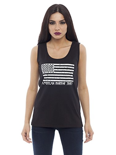 American Horror Story Flag Top donna nero L