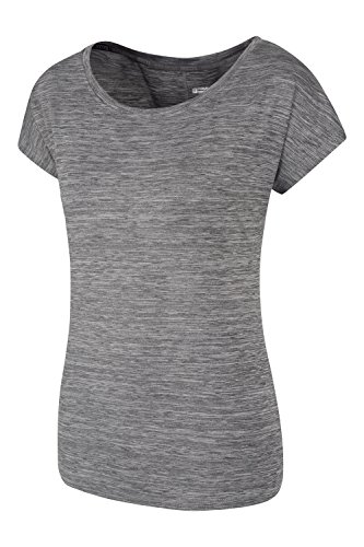 Mountain Warehouse IsoCool Dynamic Panna Lockeres Damen T-Shirt Grau