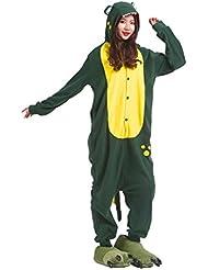 Hstyle Adulto De Dibujos Animados De Pijamas Ropa De Dormir Unisex Kigurumi Monos Mamelucos Trajes De Piel De Cocodrilo Verde