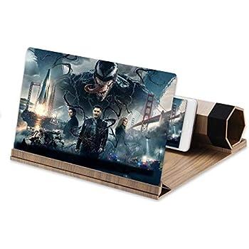 Portable Handy Bildschirm 3D Lupe zusammenklappbar HD Verst/ärker Vergr/ö/ßern St/änder Handy Projektor f/ür Weihnachten Geschenk(Braun) VBESTLIFE 12 Bildschirm Verst/ärker