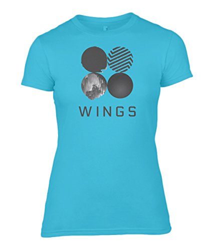 BTS Army Wings - Women's Fitted T-Shirt 100% Cotton (M, Blue) -
