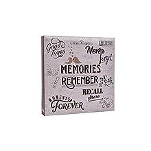 ARPAN Large Slip In Pockets 3-Ring Binder Photo Album Holds 500 6x4'' Photos Wedding, Baby Birthday (Slogan Art)