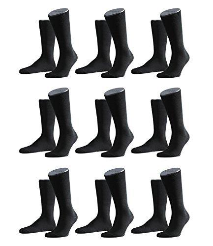 FALKE Herren Family Socken Strümpfe 14645 9er Pack, Sockengröße:39-42;Artikel:14645-3000 black