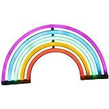Suszian LED Regenbogen Zeichen geformte Dekor Licht, niedlichen Regenbogen Licht Neon LED Lampe Regenbogen Nachtlicht Raum De