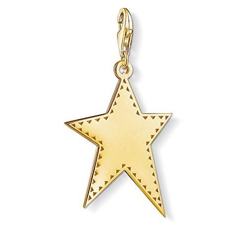 Thomas Sabo Herren Damen-Anhänger goldener Stern 925 Sterling Silber Y0040-413-39