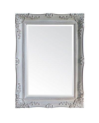 Moycor Decoración - Espejo marco madera blanco, 85x115