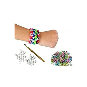 GLOW IN THE DARK Loom Bands - PACK OF 300 with hook and clips IT