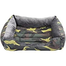 OFERTA LIQUIDACION Camas para perro y gato estampado Camuflaje Verde H 75*55cm